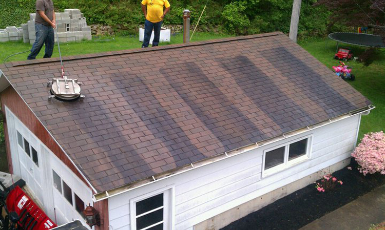 roof cleaning before; roof cleaning during ... & Roofing Contractors - Kintnersville PA - DVC ROOFING memphite.com
